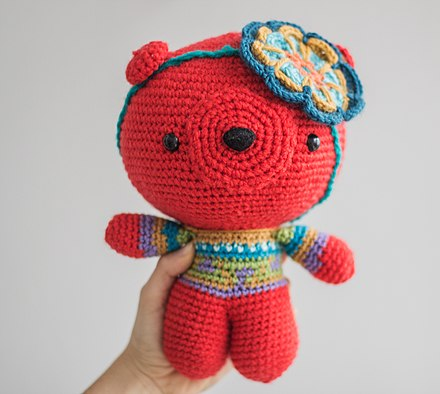 Amigurumi Big Bear (Free Pattern) - ENGLİSH | Teddy bear patterns ... | 394x440