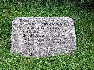 Öömrang - Image: Amrum Nebel Oeoemranghues Memorial stone P5252498jm