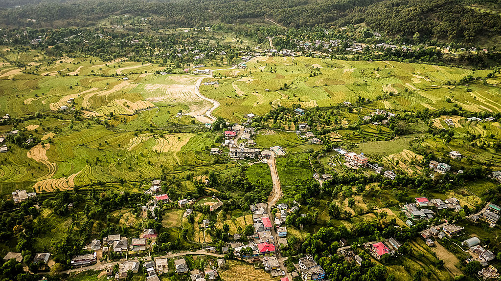 An aerial view of Bir