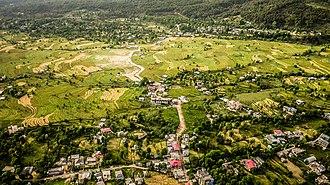 Kangra Valley - Image: An aerial view of Bir, Kangra valley sights nature culture Himachal Pradesh India 2015