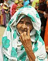 An elderly women voter showing mark of indelible ink after casting her vote at a polling booth, during the fifth phase of West Bengal Assembly Election, at Baruipur (west), South 24 Pargana, West Bengal on April 30, 2016.jpg