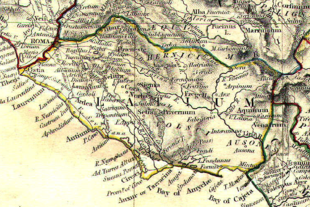 Il Latium vetus con le città di Caenina, Antemnae, Crustumerium, Medullia, Fidene e Veio, prime rivali della Roma di Romolo nell'VIII secolo a.C.