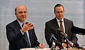 Anders Borg and Pierre Moscovici at a press conference March 2013 004.jpg