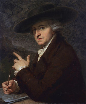 Antonio Zucchi - Portrait (1781) by his wife, Angelica Kauffman