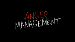 "The words ""Anger Management"" with red and white lettering on a black background."