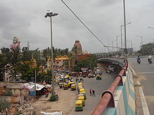 Agara, Bangalore - Puri Jagannath's temple and huge Hanuman statue at Agara
