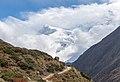 Annapurna III in cloouds - Annapurna Circuit, Nepal - panoramio.jpg