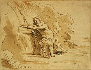 John the Baptist takes water