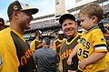 Anthony Rizzo shares a laugh with Mark Melancon's son during the 2016 T-Mobile -HRDerby. (28542748316).jpg