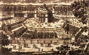 Antoine Aveline - View and Perspective of the Ménagerie at Versailles by Antoine Aveline