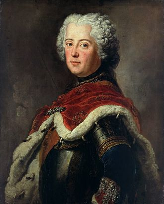 First Silesian War - Frederick II of Prussia as crown prince in 1739, by Antoine Pesne