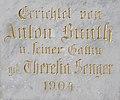 Anton Bunth Crucifix (1904), back, 2017 Törökbálint.jpg
