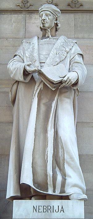 Antonio de Nebrija - Statue outside the Biblioteca Nacional de España, Madrid