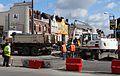 Anzin & Valenciennes - Travaux de raccordement des lignes A & B du tramway de Valenciennes à la Croix d'Anzin le 13 août 2013 (37).JPG