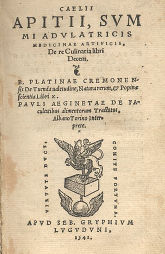 Cookbook - Apicius, De re coquinaria, an early collection of Roman recipes.