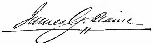 James G. Blaine's signature