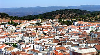 Aracena Place in Andalusia, Spain