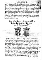 Aragonensium rerum commentarii-Petronilla Regina Aragonum Raim Berengarius Barcinonensis Comes.jpg