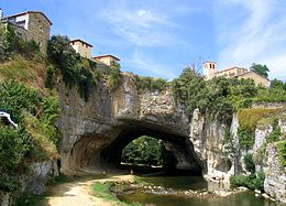 Arch carved by the Nela River, Puentedey, Orbaneja del Castillo, Province of Burgos, Spain.jpg