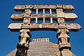 Architraves with Four Lions Pillar Heads - South Gateway - Stupa 1 - Sanchi Hill 2013-02-21 4352.JPG
