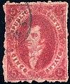 Argentina 1864 5c Sc11B used.jpg