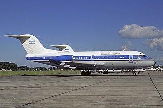 Agrupación Aérea Presidencial - Fokker F28 Tango 02.