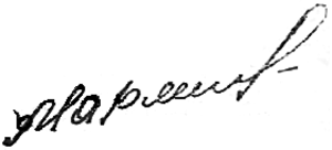 Vasily Margelov - Image: Army Gen. Vasiliy Margelov signature