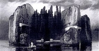 Isle of the Dead (painting) - Isle of the Dead: Fourth Version, 1884 (black-and-white photograph)