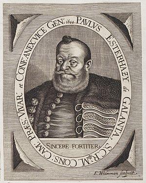 Pál Esterházy (1587–1645) - Image: Arolsen Klebeband 02 401 2
