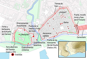 Siege of Algeciras (1309–10) - A Medieval archaeological rendering of Algeciras.