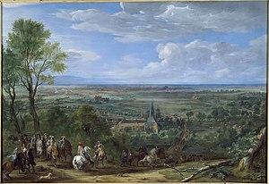 Siege of Lille (1667) - Image: Arrivée de Louis XIV au siège de Lille
