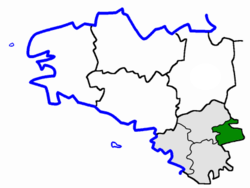 Location of the arrondissement of Ancenis in Brittany