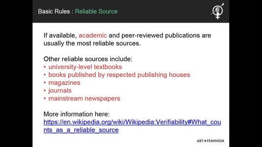 Wikipediameetupartandfeminismresources wikipedia fileartandfeminism beginner training video basic rules of wikipedia editingwebm ccuart Image collections
