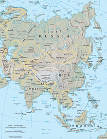 Physical Map Of Central And East Asia.Eurasia Wikipedia