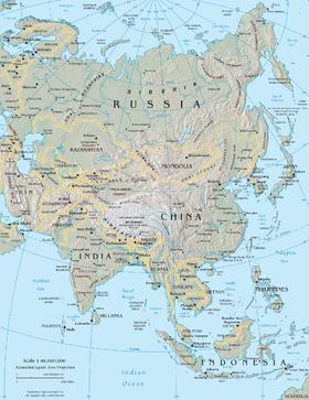 国々 アジア の 国の一覧 (大陸別)