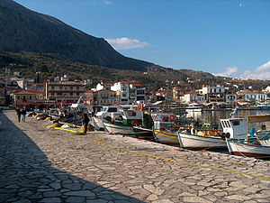 Astakos village in Aetolia-Acarnania, Greece