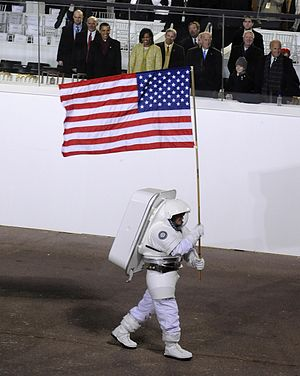 Rex J. Walheim - Walheim represented space exploration in an astronaut suit as he passed the Obama and Biden families in the reviewing stand for their 2009 inaugural parade.