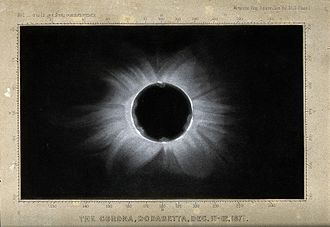 Solar eclipse of December 12, 1871 - Image: Astronomy; the corona of the sun, viewed during a total sola Wellcome V0024739
