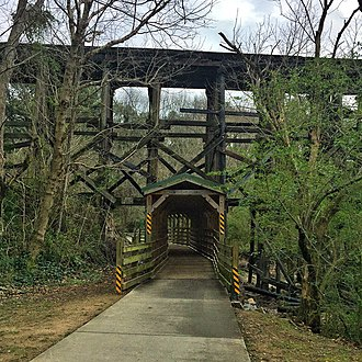 Ardmore (Atlanta) - The BeltLine passing through Ardmore Park