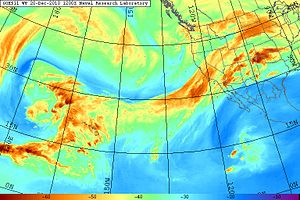 Atmospheric river - Image: Atmospheric River GOES WV 20101220.1200.goes 11.vapor.x.pacus.x