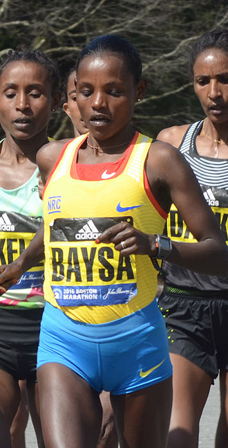 2016 Boston Marathon - Image: Atsede Baysa Tesema