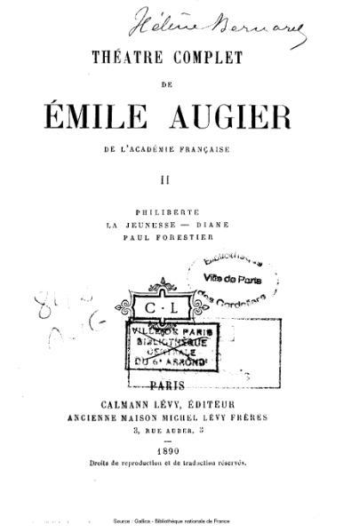 File:Augier - Théatre complet, tome 2.djvu