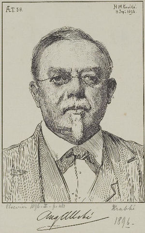 August Allebé - Portrait by Hendrik Maarten Krabbé