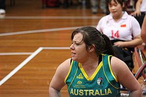 Tina McKenzie - Tina McKenzie in a Gliders game against Japan in Sydney in 2012
