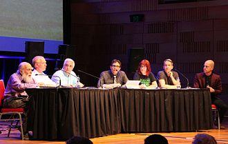 Rebecca Watson - Image: Aust Skeptic Con 2014 Randi SGU Hrab 1