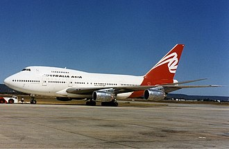 Australia Asia Airlines - Australia Asia Airlines Boeing 747SP at Perth Airport in the mid-1990s.