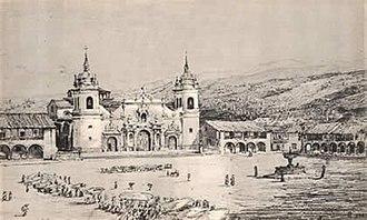 Plaza de Armas (Ayacucho) - Image: Ayacucho 1847