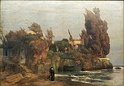 Arnold Böcklin: Villa by the Sea, version II