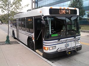 Connect Transit - Gillig Low Floor serving the Lime (I) route