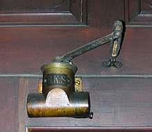 Old type of manual door closer (made by BKS) & Door closer - Wikipedia